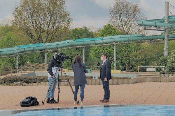 Bild:Regio TV zu Gast im Badepark